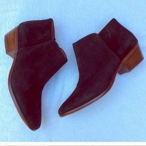 Black Suede Ankle Boots by Sam Edelman